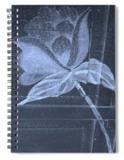Cyan Negative Wood Flower Spiral Notebook