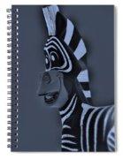 Bluegray Zebra Spiral Notebook