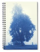 Cyanotype Cemetery Spiral Notebook
