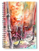 Cycling In Italy 02 Spiral Notebook
