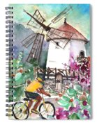Cycling In The Mountains Of Gran Canaria Spiral Notebook