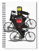 Cycling Recycle Bins Spiral Notebook