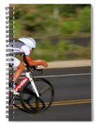 Cycling Time Trial Spiral Notebook
