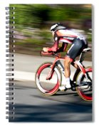 Cyclist Racing The Clock Spiral Notebook