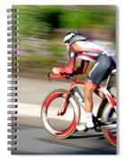 Cyclist Time Trial Spiral Notebook