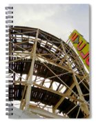Cyclone Roller Coaster Spiral Notebook