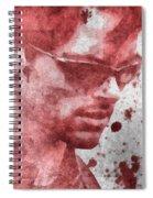 Cyclops X Men Paint Splatter Spiral Notebook