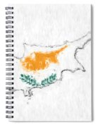 Cyprus Painted Flag Map Spiral Notebook