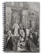 Cyrus Restoring The Vessels Of The Temple Spiral Notebook