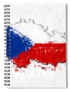 Czech Republic Painted Flag Map Spiral Notebook