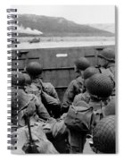 D-day Soldiers In A Higgins Boat  Spiral Notebook