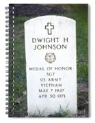 D. H. Johnson - Medal Of Honor Spiral Notebook