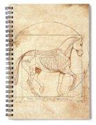 da Vinci Horse in Piaffe Spiral Notebook