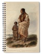 Dacota Woman And Assiniboin Girl Spiral Notebook