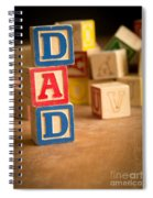 Dad - Alphabet Blocks Fathers Day Spiral Notebook