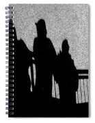 Dad And Three Boys Spiral Notebook