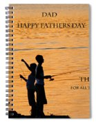 Dad Happy Father's Day Spiral Notebook