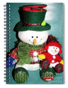 Daddy And Baby Snowmen Decorations Spiral Notebook