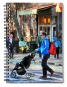 Daddy Pushing Stroller Greenwich Village Spiral Notebook