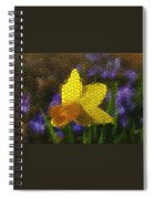 Daffies And Blue Chionodoxas Spiral Notebook