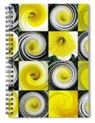 Daffodil Spring Mosaic Spiral Notebook