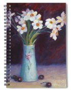 Daffodils And Cherries Spiral Notebook