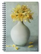 Daffodils In A White Flowerpot Spiral Notebook