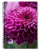Dahlia And Mums Spiral Notebook