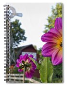 Dahlia Bee And Windmill Spiral Notebook