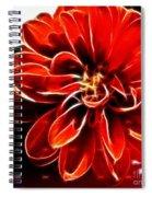 Dahlia Expressive Brushstrokes Spiral Notebook
