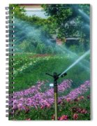 Dahlia Field Farm Scene Spiral Notebook