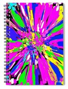 Dahlia Flower Abstract #1 Spiral Notebook
