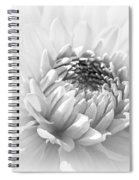 Dahlia Flower Soft Monochrome Spiral Notebook