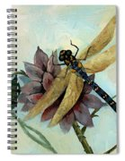 Dahlia With Dragonfly Resting Spiral Notebook