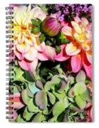 Dahlias And Hydrangeas Bouquet Spiral Notebook