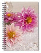 Dahlias And Lace Spiral Notebook