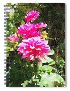 Dahlias Spiral Notebook