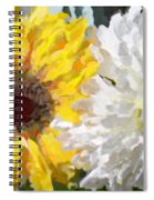 Daisies And Sunflowers - Impressionistic Spiral Notebook