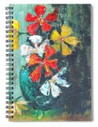 Daisies In A Green Vase Spiral Notebook