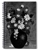 Daisies In Black And White Spiral Notebook