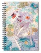 Daisies In Pot 02a - Du Bonheur En Pot Spiral Notebook