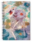 Daisies In Pot 02c - Du Bonheur En Pot Spiral Notebook