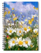 Daisies On A Hill - Impressionism Spiral Notebook
