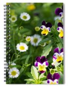 Daisy And Pansy Mix Spiral Notebook