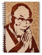Dalai Lama Original Coffee Painting Spiral Notebook