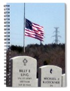 Dallas Fort Worth Memorial Cemetery Spiral Notebook