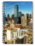 Dallas Skyline As Seen From Reunion Spiral Notebook