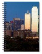 Dallas Skyline Sunset Spiral Notebook