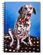 Dalmatian On Spotty Cushion Spiral Notebook