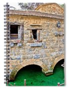 Dalmatian Village Traditional Stone Watermill Spiral Notebook